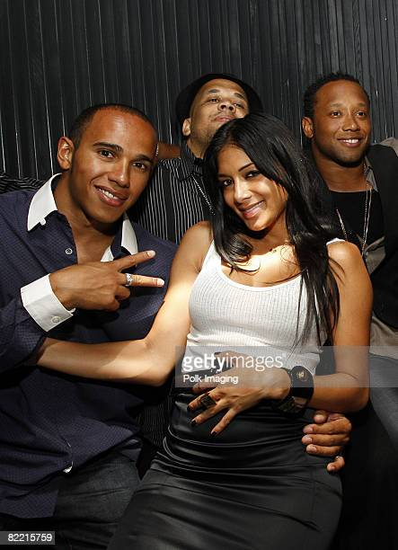 Lewis Hamilton Nicole Scherzinger and guests at the 20th Anniversary of Madden NFL Franchise Celebration Hosted by EA Sports at STK/CoCo De Ville in...