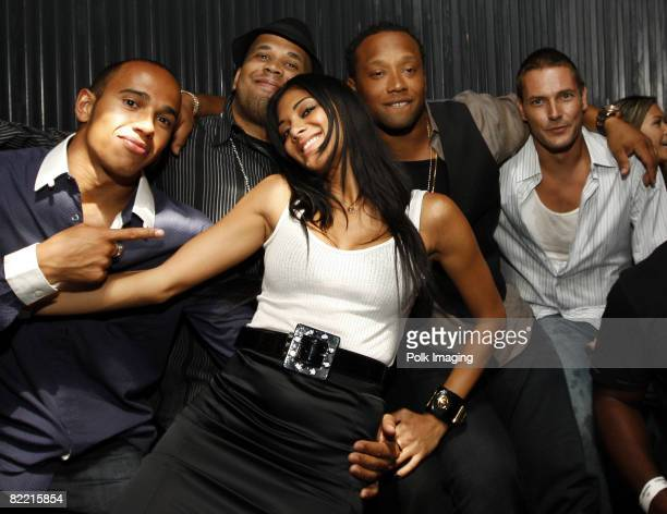 Lewis Hamilton Nicole Scherzinger Kevin Federline and guests at the 20th Anniversary of Madden NFL Franchise Celebration Hosted by EA Sports at...