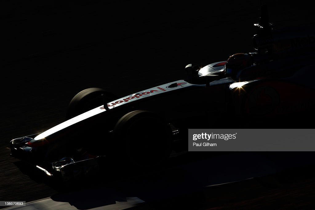 <a gi-track='captionPersonalityLinkClicked' href=/galleries/search?phrase=Lewis+Hamilton&family=editorial&specificpeople=586983 ng-click='$event.stopPropagation()'>Lewis Hamilton</a> of Great Britain and McLaren drives during day three of Formula One winter testing at the Circuito de Jerez on February 9, 2012 in Jerez de la Frontera, Spain.