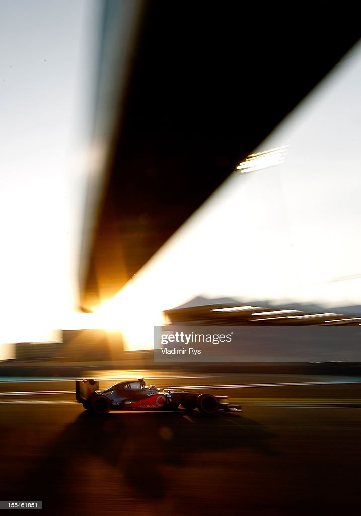 Lewis Hamilton of Great Britain and McLaren drives during the Abu Dhabi Formula One Grand Prix at the Yas Marina Circuit on November 4, 2012 in Abu Dhabi, United Arab Emirates.
