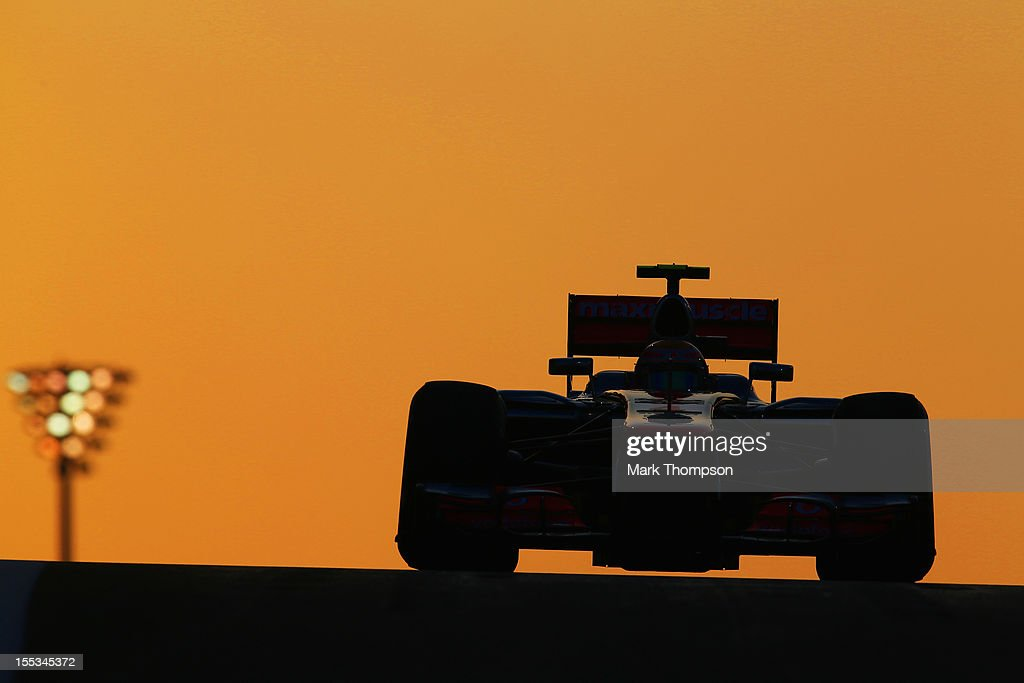 <a gi-track='captionPersonalityLinkClicked' href=/galleries/search?phrase=Lewis+Hamilton&family=editorial&specificpeople=586983 ng-click='$event.stopPropagation()'>Lewis Hamilton</a> of Great Britain and McLaren drives on his way to finishing first during qualifying for the Abu Dhabi Formula One Grand Prix at the Yas Marina Circuit on November 3, 2012 in Abu Dhabi, United Arab Emirates.
