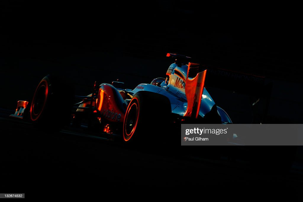 <a gi-track='captionPersonalityLinkClicked' href=/galleries/search?phrase=Lewis+Hamilton+-+Racecar+Driver&family=editorial&specificpeople=586983 ng-click='$event.stopPropagation()'>Lewis Hamilton</a> of Great Britain and McLaren drives on his way to winning the Abu Dhabi Formula One Grand Prix at the Yas Marina Circuit on November 13, 2011 in Abu Dhabi, United Arab Emirates.