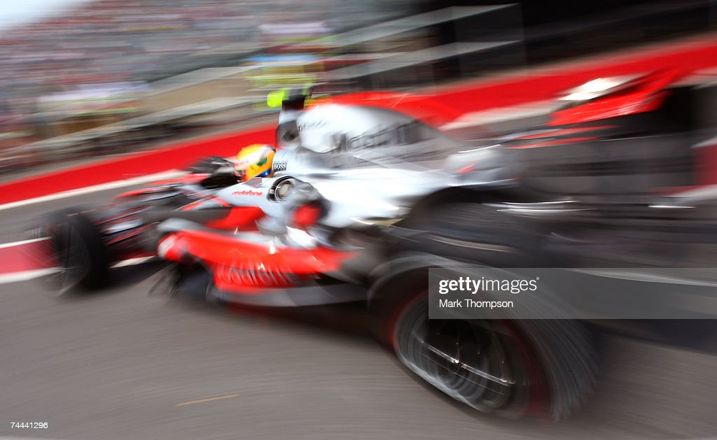 Lewis Hamilton of Great Britain and McLaren Mercedes leaves his garage during practice for the Canadian Formula One Grand Prix at the Circuit Gilles Villeneuve on June 8, 2007 in Montreal, Canada.