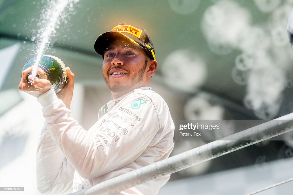 Lewis Hamilton of Great Britain and Mercedes during the Formula One Grand Prix of Belgium at Circuit de SpaFrancorchamps on August 28 2016 in Spa...