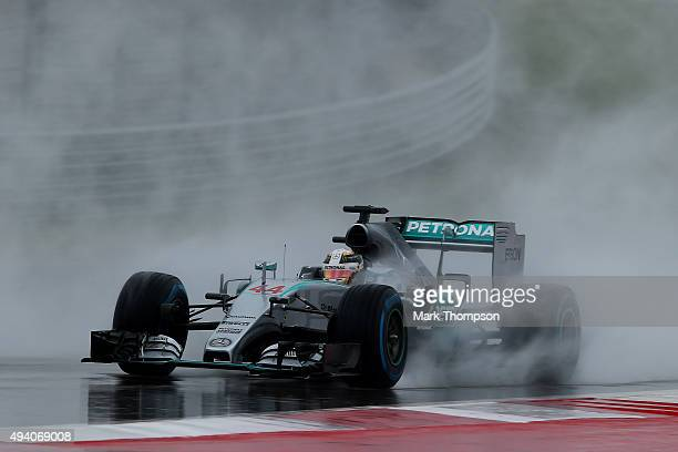 Lewis Hamilton of Great Britain and Mercedes GP drives during final practice for the United States Formula One Grand Prix at Circuit of The Americas...