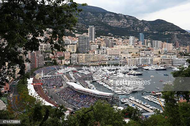 Lewis Hamilton of Great Britain and Mercedes GP drives during qualifying for the Monaco Formula One Grand Prix at Circuit de Monaco on May 23 2015 in...