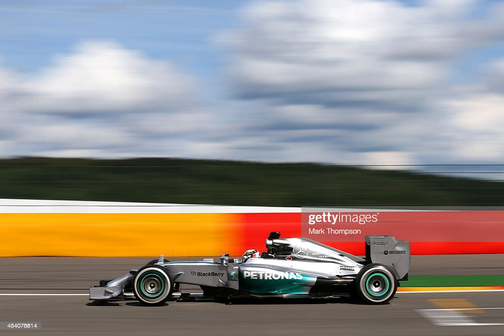 <a gi-track='captionPersonalityLinkClicked' href=/galleries/search?phrase=Lewis+Hamilton&family=editorial&specificpeople=586983 ng-click='$event.stopPropagation()'>Lewis Hamilton</a> of Great Britain and Mercedes GP drives during the Belgian Grand Prix at Circuit de Spa-Francorchamps on August 24, 2014 in Spa, Belgium.
