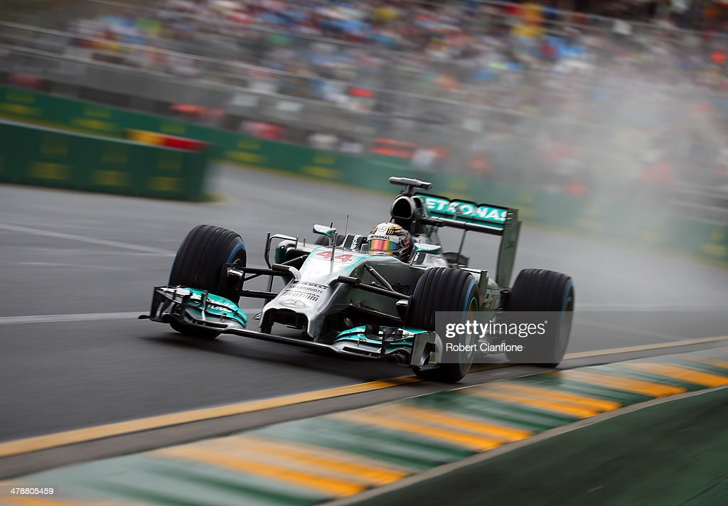 <a gi-track='captionPersonalityLinkClicked' href=/galleries/search?phrase=Lewis+Hamilton&family=editorial&specificpeople=586983 ng-click='$event.stopPropagation()'>Lewis Hamilton</a> of Great Britain and Mercedes GP drives on his way to finishing first during qualifying for the Australian Formula One Grand Prix at Albert Park on March 15, 2014 in Melbourne, Australia.