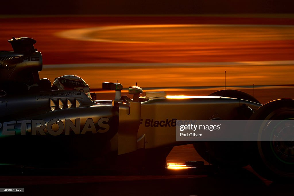 <a gi-track='captionPersonalityLinkClicked' href=/galleries/search?phrase=Lewis+Hamilton&family=editorial&specificpeople=586983 ng-click='$event.stopPropagation()'>Lewis Hamilton</a> of Great Britain and Mercedes GP drives on his way to winning the Bahrain Formula One Grand Prix at the Bahrain International Circuit on April 6, 2014 in Sakhir, Bahrain.
