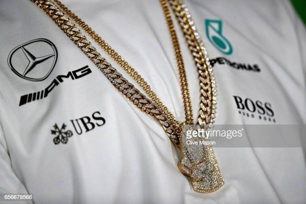 Lewis Hamilton of Great Britain and Mercedes GP in the Drivers Press Conference during previews to the Australian Formula One Grand Prix at Albert...