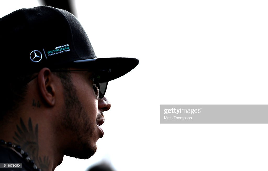 Lewis Hamilton of Great Britain and Mercedes GP in the Paddock after practice for the Formula One Grand Prix of Austria at Red Bull Ring on July 1, 2016 in Spielberg, Austria.