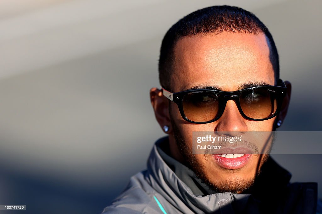 <a gi-track='captionPersonalityLinkClicked' href=/galleries/search?phrase=Lewis+Hamilton&family=editorial&specificpeople=586983 ng-click='$event.stopPropagation()'>Lewis Hamilton</a> of Great Britain and Mercedes GP looks on during Formula One winter testing at Circuito de Jerez on February 5, 2013 in Jerez de la Frontera, Spain.