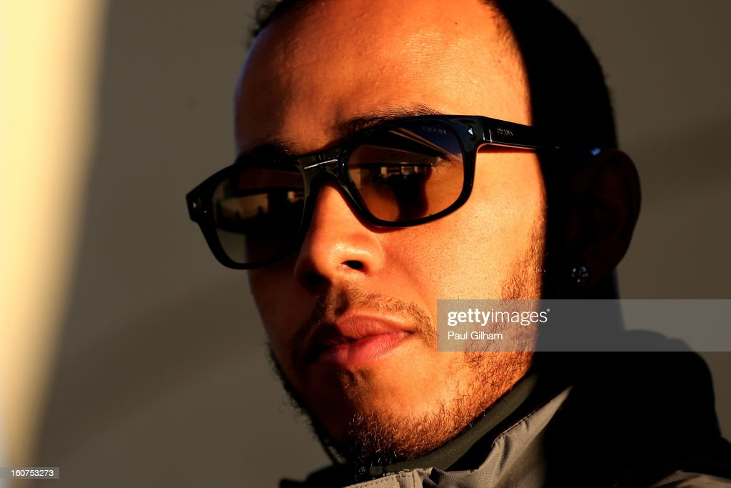 <a gi-track='captionPersonalityLinkClicked' href=/galleries/search?phrase=Lewis+Hamilton+-+Racecar+Driver&family=editorial&specificpeople=586983 ng-click='$event.stopPropagation()'>Lewis Hamilton</a> of Great Britain and Mercedes GP looks on during Formula One winter testing at Circuito de Jerez on February 5, 2013 in Jerez de la Frontera, Spain.