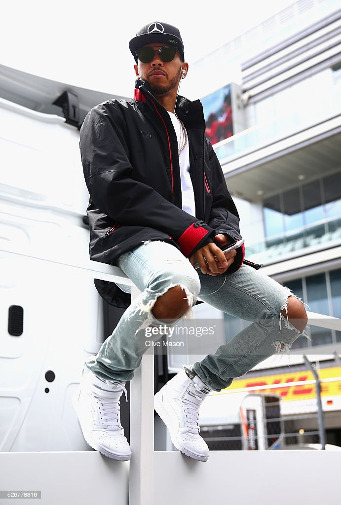 Lewis Hamilton of Great Britain and Mercedes GP on the drivers parade ahead of the Formula One Grand Prix of Russia at Sochi Autodrom on May 1, 2016 in Sochi, Russia.