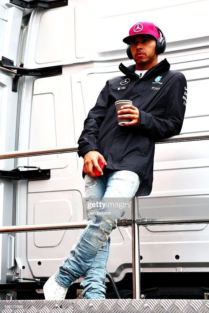 <a gi-track='captionPersonalityLinkClicked' href=/galleries/search?phrase=Lewis+Hamilton+-+Racecar+Driver&family=editorial&specificpeople=586983 ng-click='$event.stopPropagation()'>Lewis Hamilton</a> of Great Britain and Mercedes GP on the drivers parade ahead of the Monaco Formula One Grand Prix at Circuit de Monaco on May 29, 2016 in Monte-Carlo, Monaco.