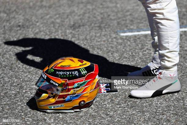 Lewis Hamilton of Great Britain and Mercedes GP on the grid before the United States Formula One Grand Prix at Circuit of The Americas on October 22...