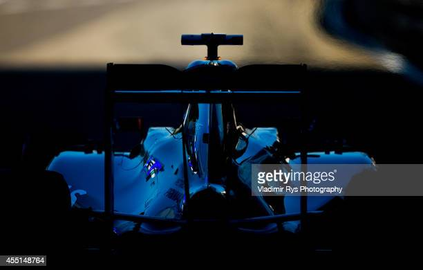 Lewis Hamilton of Great Britain and Mercedes GP Petronas drives out of pitlane during practice prior qualifying for the Italian Formula One Grand...