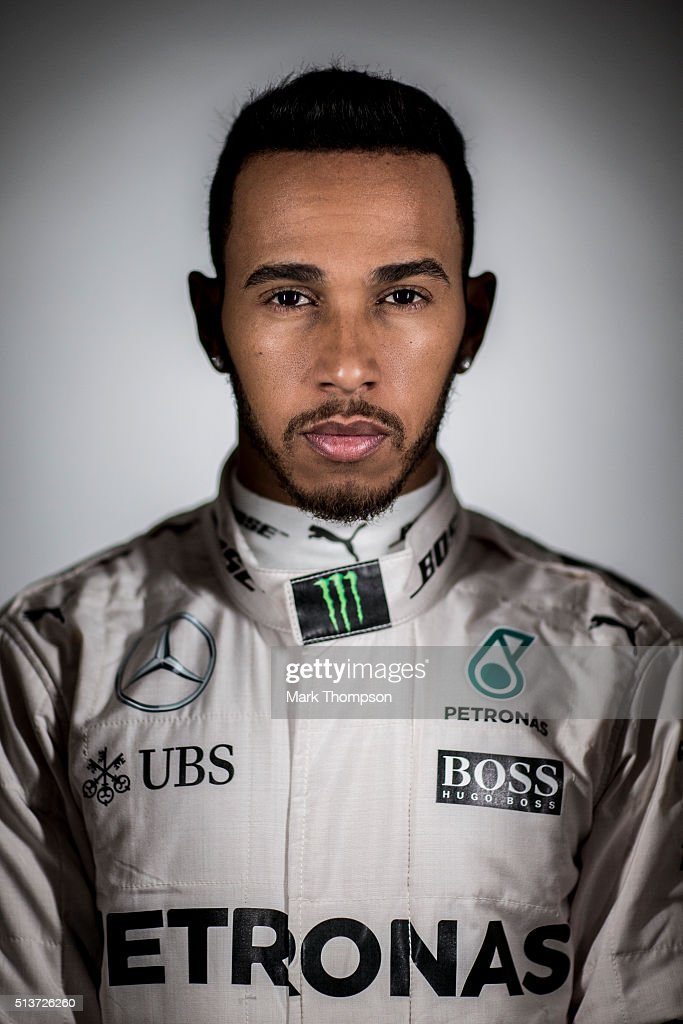 Lewis Hamilton of Great Britain and Mercedes GP poses for a portrait during day three of F1 winter testing at Circuit de Catalunya on March 3, 2016 in Montmelo, Spain.