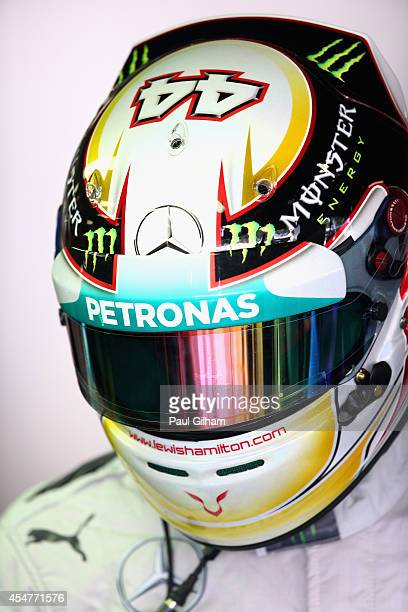 Lewis Hamilton of Great Britain and Mercedes GP prepares to drive during Practice ahead of the F1 Grand Prix of Italy at Autodromo di Monza on...