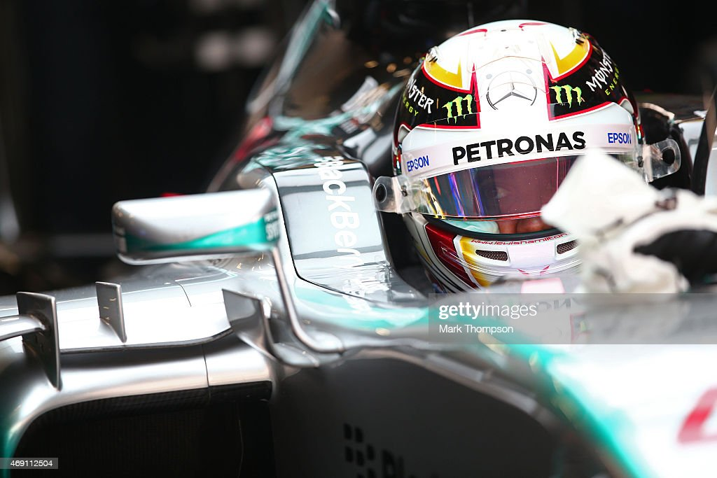 Lewis Hamilton of Great Britain and Mercedes GP prepares to drive during practice for the Formula One Grand Prix of China at Shanghai International...