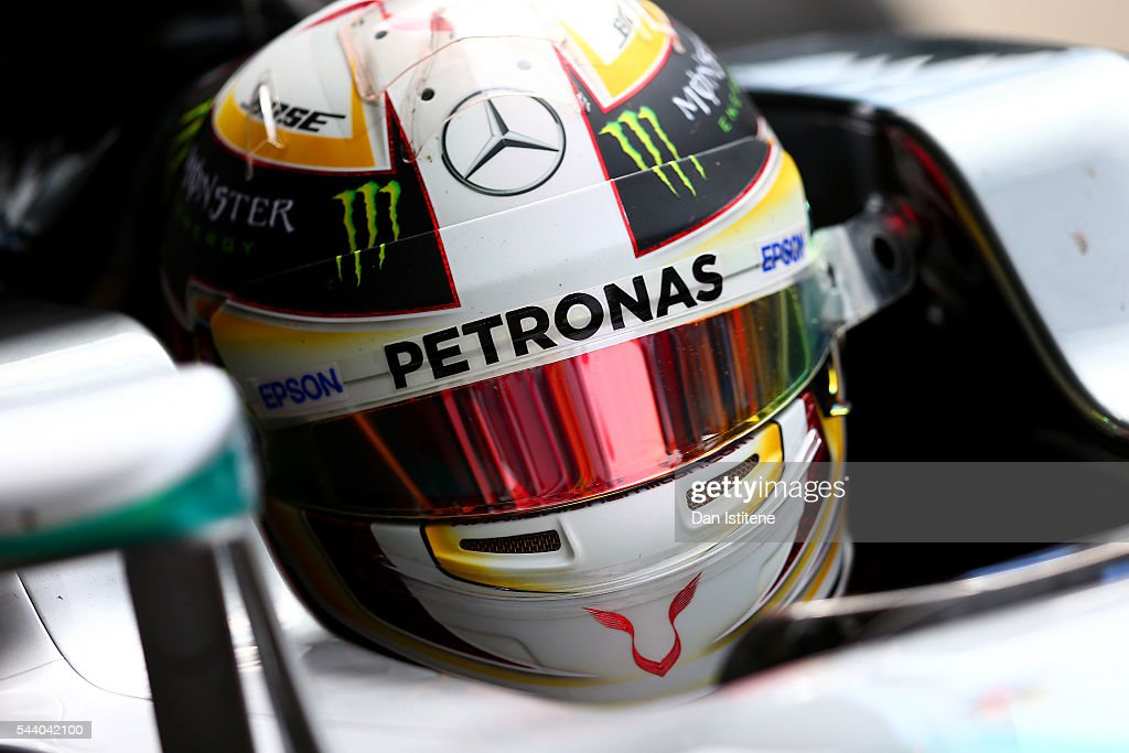<a gi-track='captionPersonalityLinkClicked' href=/galleries/search?phrase=Lewis+Hamilton+-+Racecar+Driver&family=editorial&specificpeople=586983 ng-click='$event.stopPropagation()'>Lewis Hamilton</a> of Great Britain and Mercedes GP returns to the garage during practice for the Formula One Grand Prix of Austria at Red Bull Ring on July 1, 2016 in Spielberg, Austria.