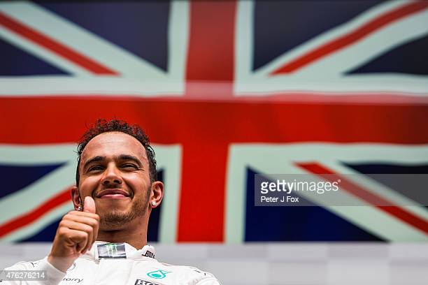 Lewis Hamilton of Great Britain and Mercedes wins the Canadian Formula One Grand Prix at Circuit Gilles Villeneuve on June 7 2015 in Montreal Canada