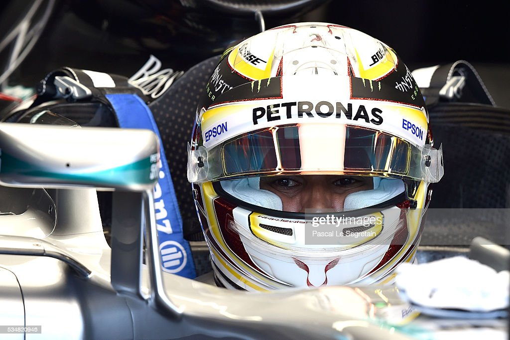 <a gi-track='captionPersonalityLinkClicked' href=/galleries/search?phrase=Lewis+Hamilton+-+Racecar+Driver&family=editorial&specificpeople=586983 ng-click='$event.stopPropagation()'>Lewis Hamilton</a> of Great Britain attends the Practice session of the F1 Grand Prix of Monaco on May 28, 2016 in Monte-Carlo, Monaco.