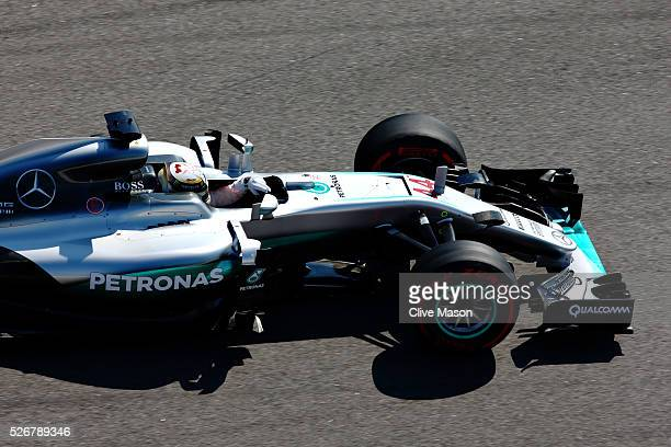 Lewis Hamilton of Great Britain driving the Mercedes AMG Petronas F1 Team Mercedes F1 WO7 Mercedes PU106C Hybrid turboon track during the Formula One...