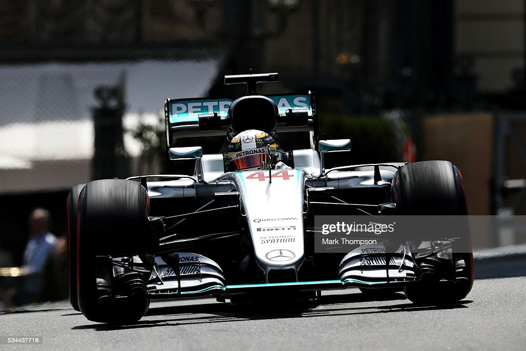F1 grand prix of monaco practice getty images for Garage mercedes monaco