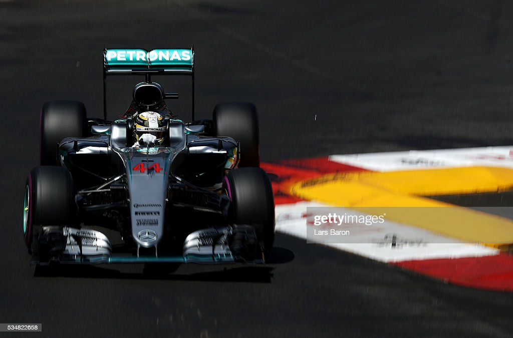 <a gi-track='captionPersonalityLinkClicked' href=/galleries/search?phrase=Lewis+Hamilton&family=editorial&specificpeople=586983 ng-click='$event.stopPropagation()'>Lewis Hamilton</a> of Great Britain driving the (44) Mercedes AMG Petronas F1 Team Mercedes F1 WO7 Mercedes PU106C Hybrid turbo on track during qualifying for the Monaco Formula One Grand Prix at Circuit de Monaco on May 28, 2016 in Monte-Carlo, Monaco.