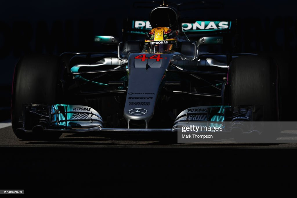 Lewis Hamilton of Great Britain driving the (44) Mercedes AMG Petronas F1 Team Mercedes F1 WO8 on track during qualifying for the Formula One Grand Prix of Russia on April 29, 2017 in Sochi, Russia.