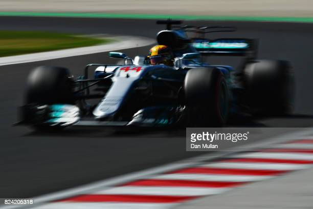 Lewis Hamilton of Great Britain driving the Mercedes AMG Petronas F1 Team Mercedes F1 WO8 on track during qualifying for the Formula One Grand Prix...