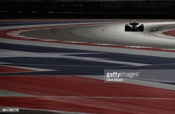Lewis Hamilton of Great Britain driving the Mercedes AMG Petronas F1 Team Mercedes F1 WO8 on track during qualifying for the United States Formula...