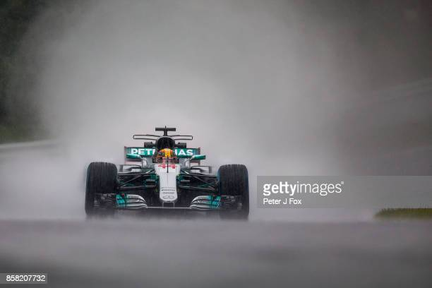 Lewis Hamilton of Mercedes and Great Britain during practice for the Formula One Grand Prix of Japan at Suzuka Circuit on October 6 2017 in Suzuka