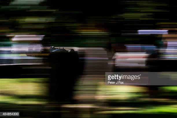 Lewis Hamilton of Mercedes and Great Britain during previews to the Italian Formula One Grand Prix at Autodromo di Monza on September 7 2014 in Monza...