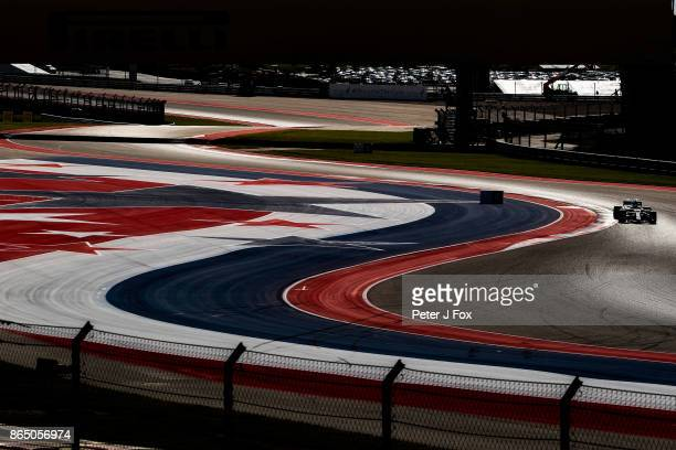 Lewis Hamilton of Mercedes and Great Britain during qualifying for the United States Formula One Grand Prix at Circuit of The Americas on October 21...