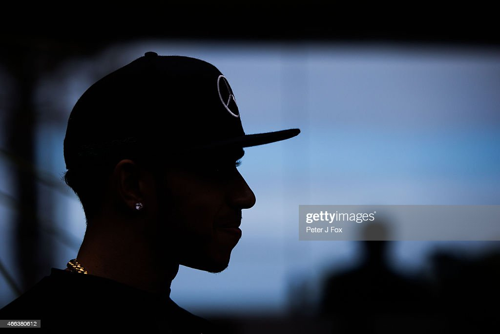Lewis Hamilton of Mercedes and Great Britain during the Australian Formula One Grand Prix at Albert Park on March 15, 2015 in Melbourne, Australia.