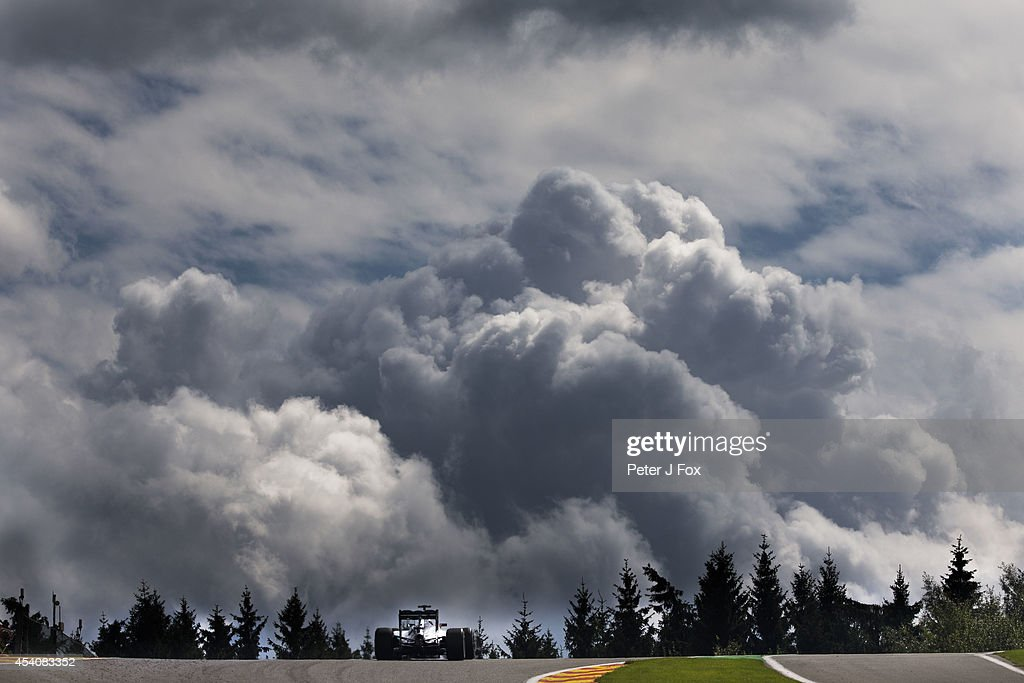 Lewis Hamilton of Mercedes and Great Britain during the Belgian F1 Grand Prix at Circuit de Spa-Francorchamps on August 24, 2014 in Spa, Belgium.