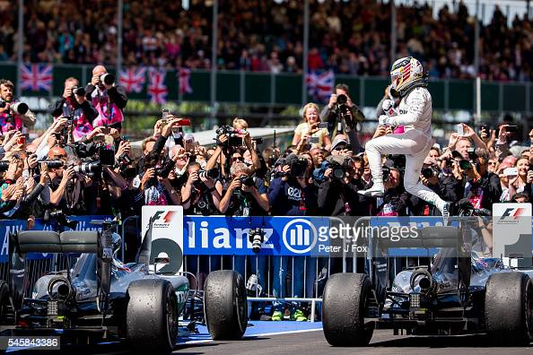 Lewis Hamilton of Mercedes and Great Britain during the Formula One Grand Prix of Great Britain at Silverstone on July 10 2016 in Northampton England