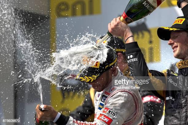 Lewis Hamilton Romain Grosjean Grand Prix of Hungary Hungaroring 29 July 2012