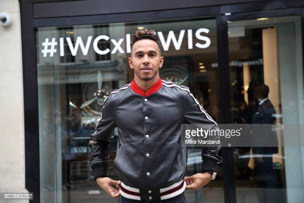 Lewis Hamilton visits the IWC Schaffhausen London Boutique on New Bond Street to celebrate his British Grand Prix win and launch the new Ingenieur...