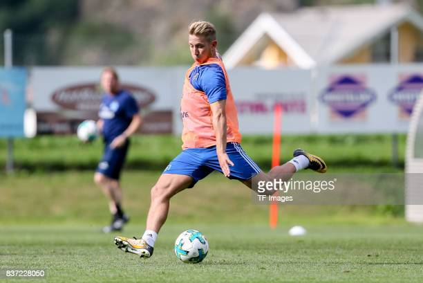 Lewis Holtby of Hamburg controls the ball during the Training Camp of Hamburger SV on July 22 2017 in Laengenfeld Austria