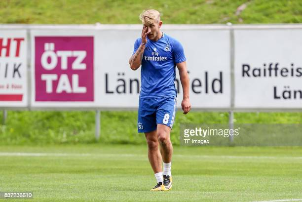 Lewis Holtby of Hamburg looks on during the Training Camp of Hamburger SV on July 23 2017 in Laengenfeld Austria