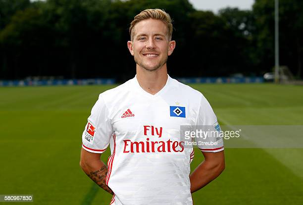 Lewis Holtby of Hamburger SV poses during the Hamburger SV Team Presentation at Volksparkstadion on July 25 2016 in Hamburg Germany