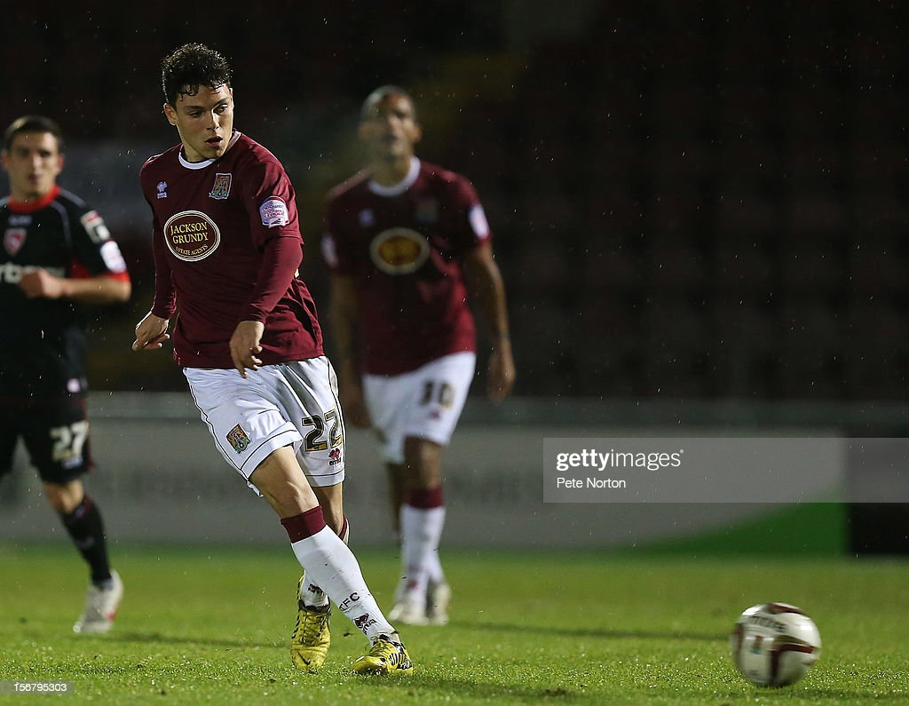 Lewis Hornby of Northampton Town in action during the npower League Two match between Northampton Town and Morecambe at Sixfields Stadium on November 20, 2012 in Northampton, England.