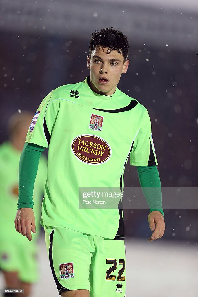 Lewis Hornby of Northampton Town in action during the npower League Two match between Aldershot Town and Northampton Town at the EBB Stadium on January 22, 2013 in Aldershot, England.