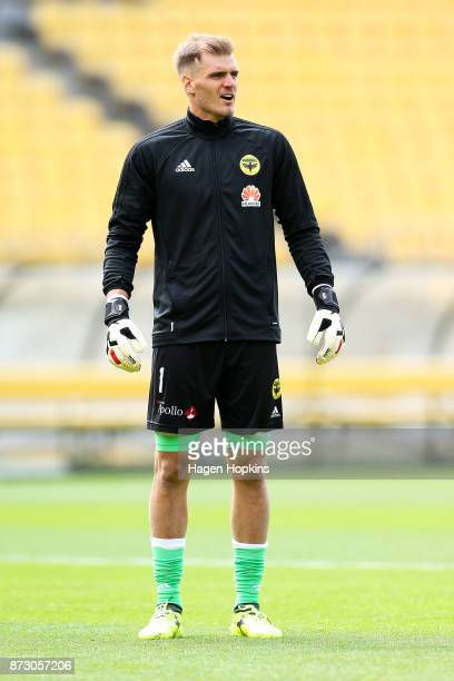 Lewis Italiano of the Phoenix looks on during the round six ALeague match between the Wellington Phoenix and the Perth Glory at Westpac Stadium on...