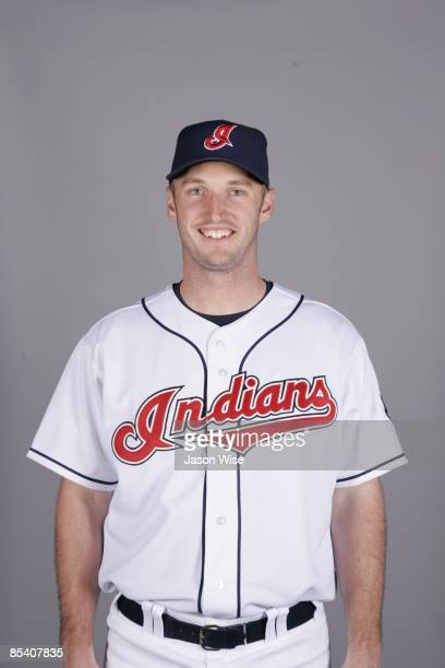 Lewis Jensen of the Cleveland Indians poses during Photo Day on Saturday February 21 2009 at Goodyear Ballpark in Goodyear Arizona
