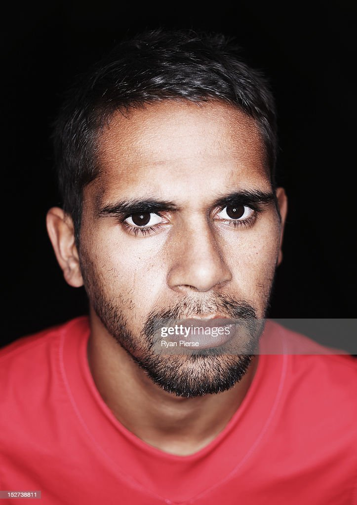 Lewis Jetta of the Swans poses during a Sydney Swans AFL media session at the Sydney Cricket Ground on September 25, 2012 in Sydney, Australia.