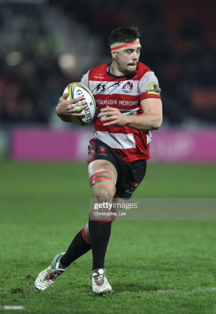 Lewis Ludlow of Gloucester during the Aviva Premiership match between Gloucester Rugby and London Irish at Kingsholm Stadium on December 2, 2017 in Gloucester, England.